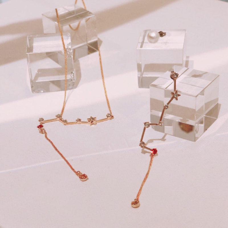 星座モチーフのネックレスをホワイトデーのプレゼントに